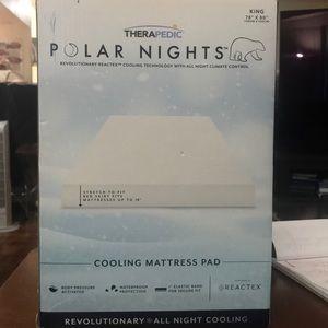Therapedic King size cooling mattress pad